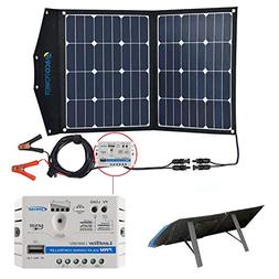 ACOPOWER 12V 70 Watt Foldable Solar Panel Kit; Portable Sola