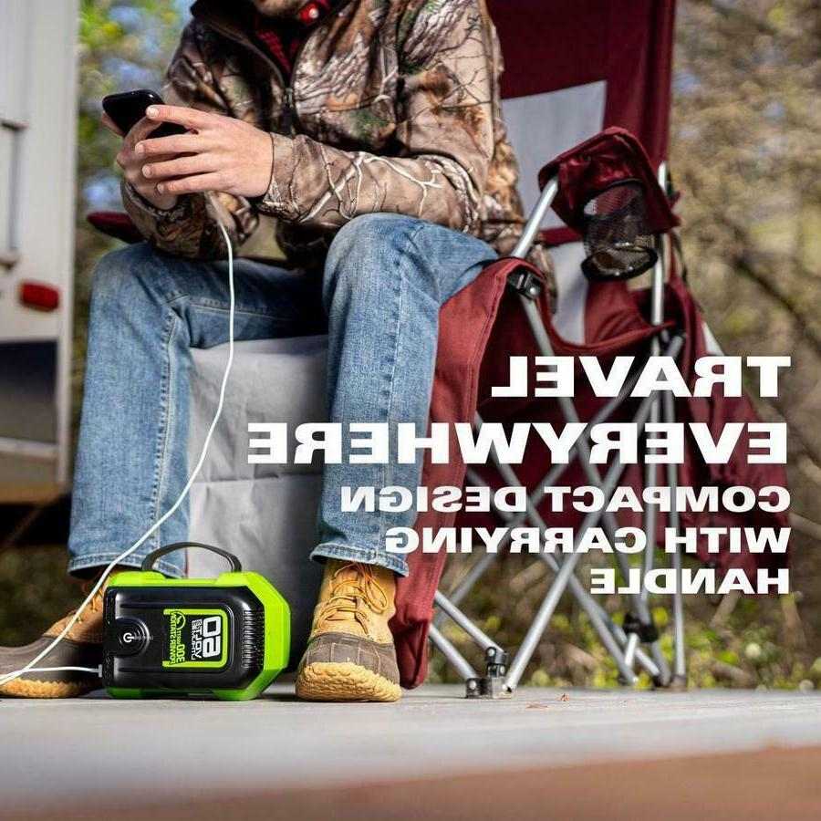 Greenworks Pro Battery Operated Power 2 Outlet