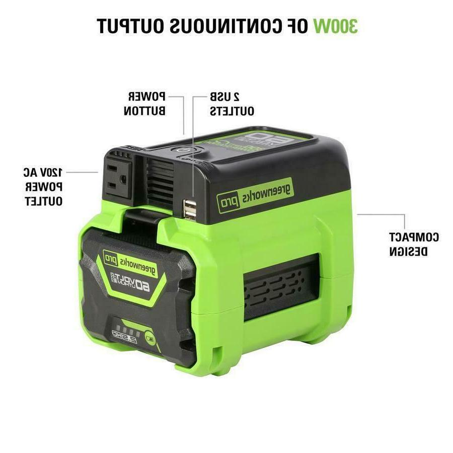 Greenworks Pro 300-Watt Battery Operated Power with 2