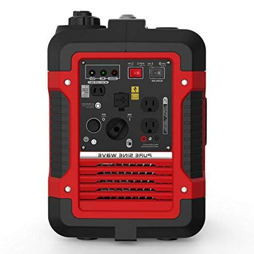 Rockpals 2000-Watt Super Time Power Generator, With Parallel Dual AC 2 USB Ports, 12V DC