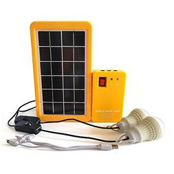 GDAE10 Portable Rechargeable Solar Generator System Kit Powe