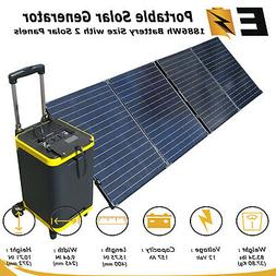 Solar Generator Rechargeable Backup Power with 2000W Inverte